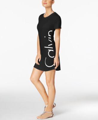 21ff69301860f CALVIN KLEIN Calvin Klein Logo Cover-Up T-Shirt Dress. #calvinklein #cloth  # swimwear