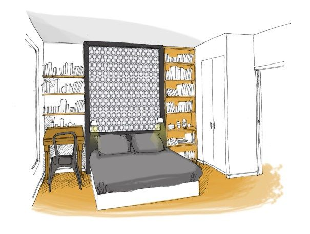appartement, rénovation, décoration, chambre, paris, maéma ...
