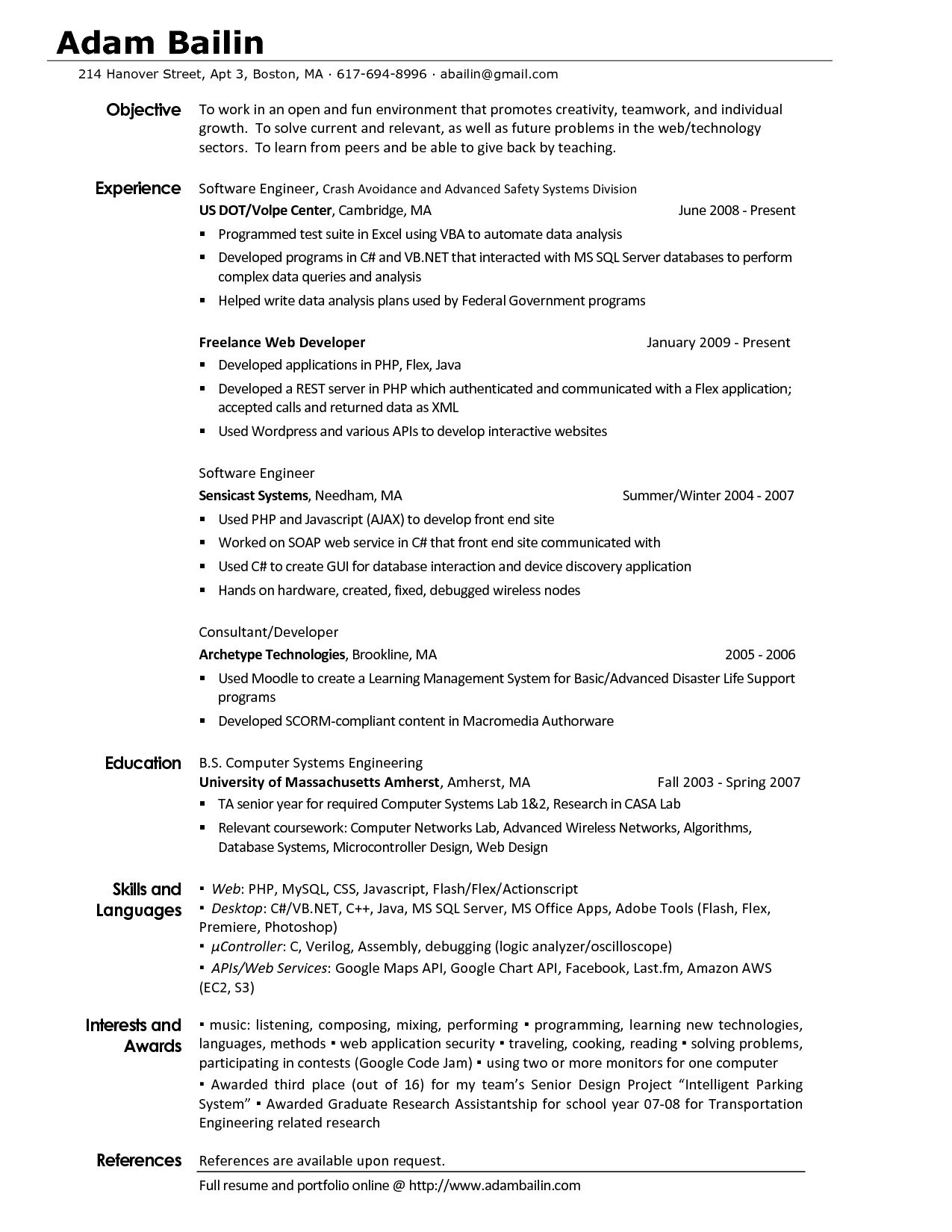 Resume Examples Of Interests Will Your Resume Land The Interview