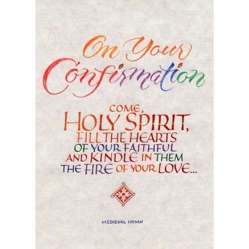 what to write on a catholic confirmation card   Google Search