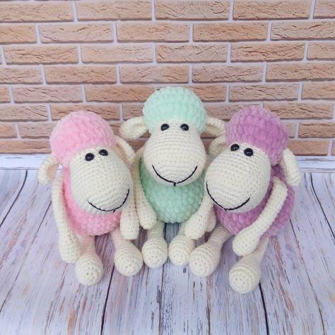 Amigurumi Schaf Plüsch Spielzeug kostenlos Muster | puppen ...