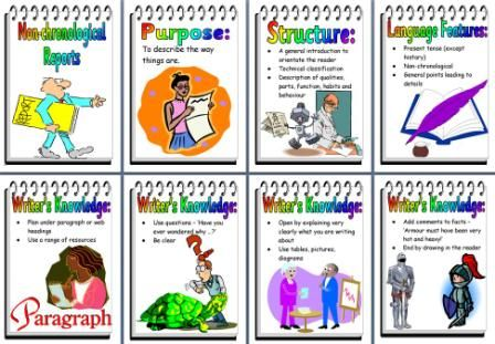 KS2 Literacy Resource - Features of Non-chronological Reports Free - board report