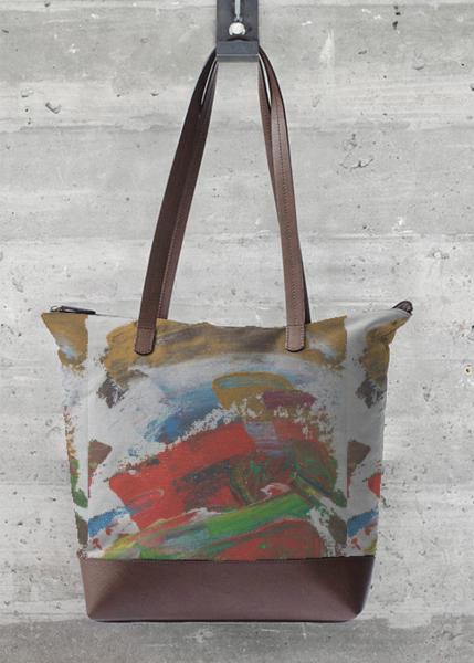 VIDA Statement Bag - Azure Toffee Watercolor by VIDA uPswfiURUw