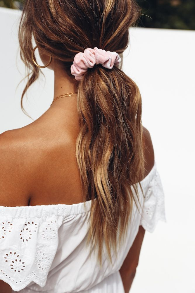 Self Made Scrunchie Pink Braid Hairstyles For Kids In 2019