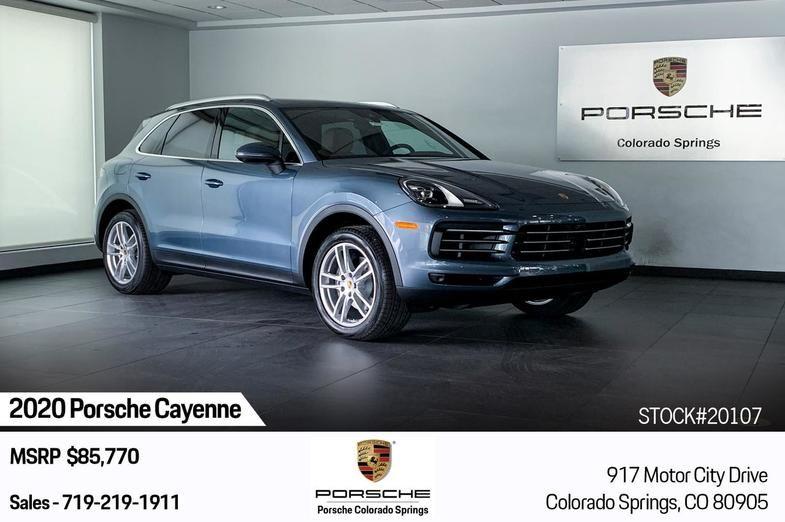2020 Porsche Cayenne Colorado Springs Co Porsche Colorado Springs Porsche Cayenne