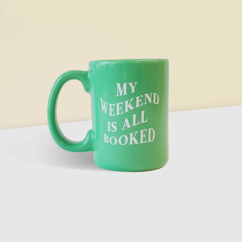 Read my mug: I'm booked ALL weekend. Sipping coffee (or tea!) while snuggled in a cozy reading nook is just how we want to spend our weekends.