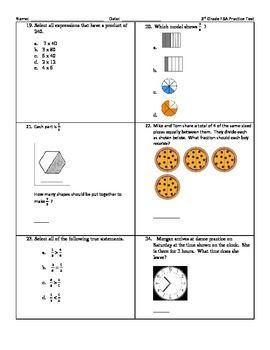 3rd Grade Math Fsa Practice Test Teacher Ideas Math 3rd
