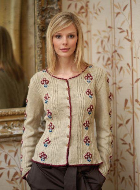 Tyrolean Cardigan Free Knitting Pattern Pinterest Knit Patterns