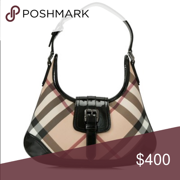 325df264e145 Burberry Mini Brook Small Hobo - Super nova check coated canvas body with  patent leather trim