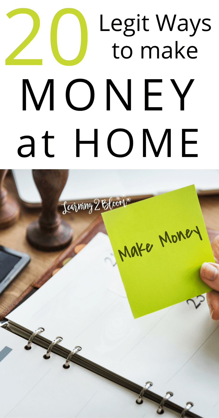 20 Legit Ways to Make Money from Home | Pinterest | Saving money and ...