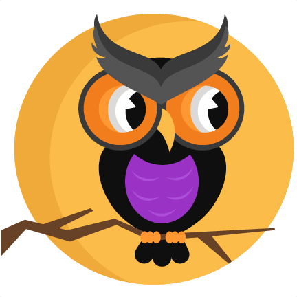 Halloween Owl With Moon SVG Scrapbook Cut File Cute Clipart Files For Silhouette Cricut Pazzles Free Svgs Svg Cuts