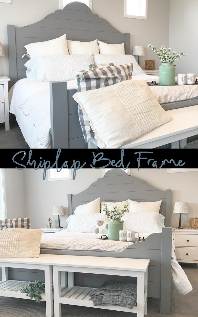 Diy Shiplap Bed Frame Decoracion Habitacion Matrimonio