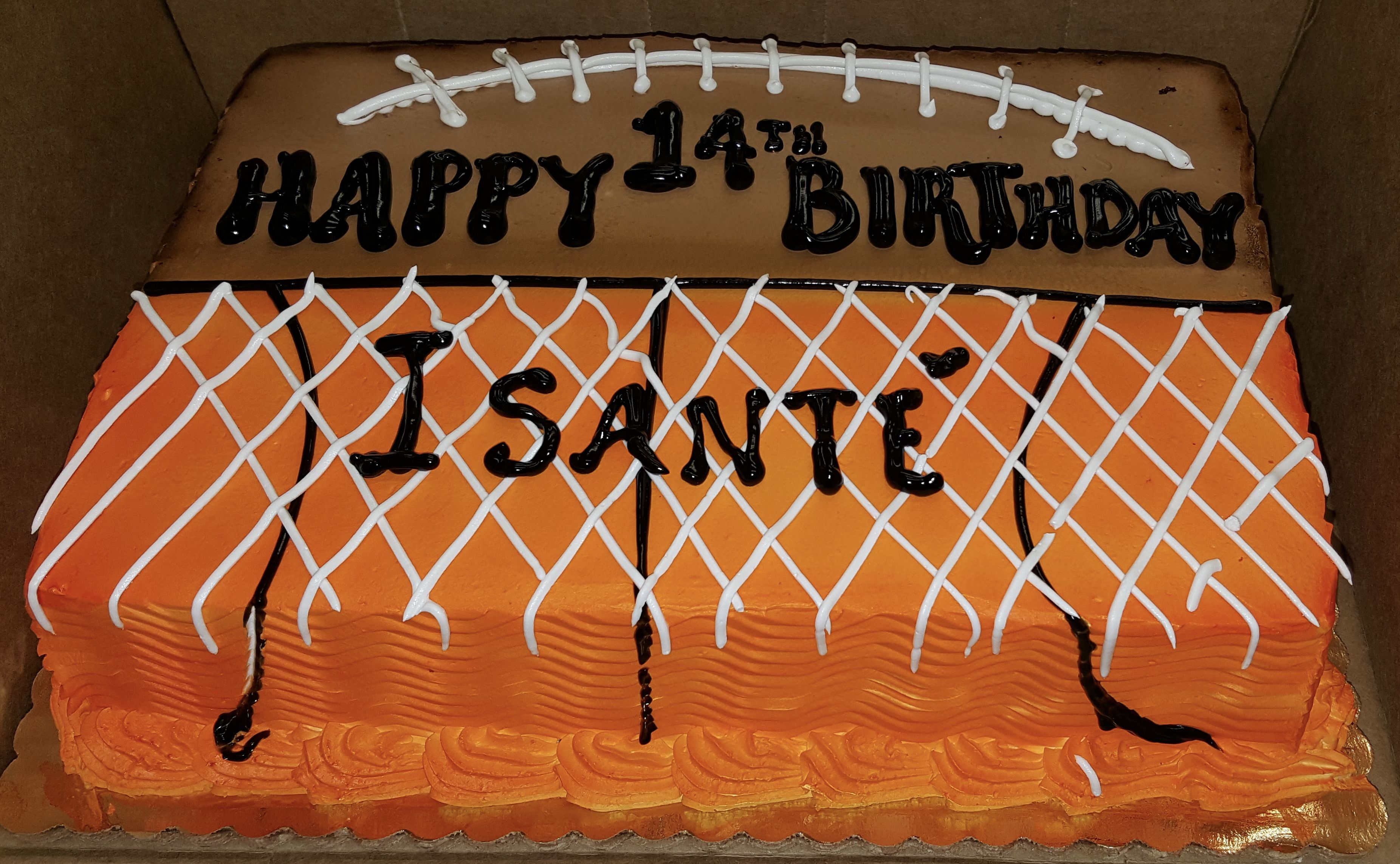 Calumet Bakery Football Basketball Sheet Cake With Images