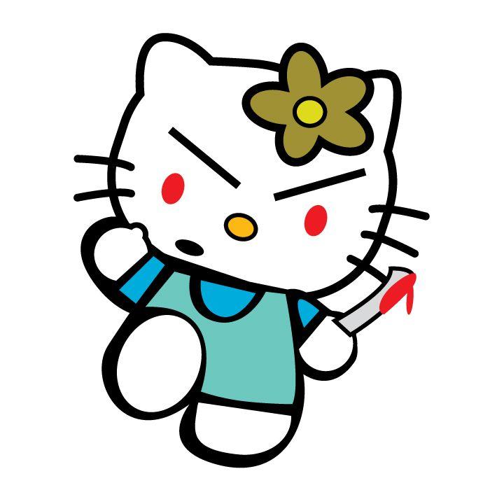 """Evil """"Hello Kitty"""" illustration   Hello kitty, Kitty, My ..."""
