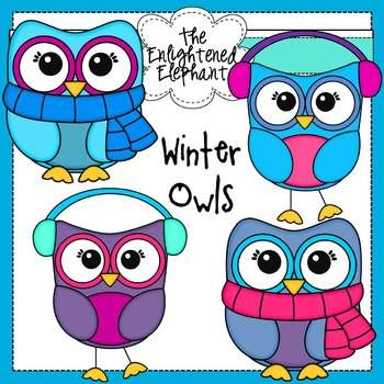Free Winter Owls Clip Art
