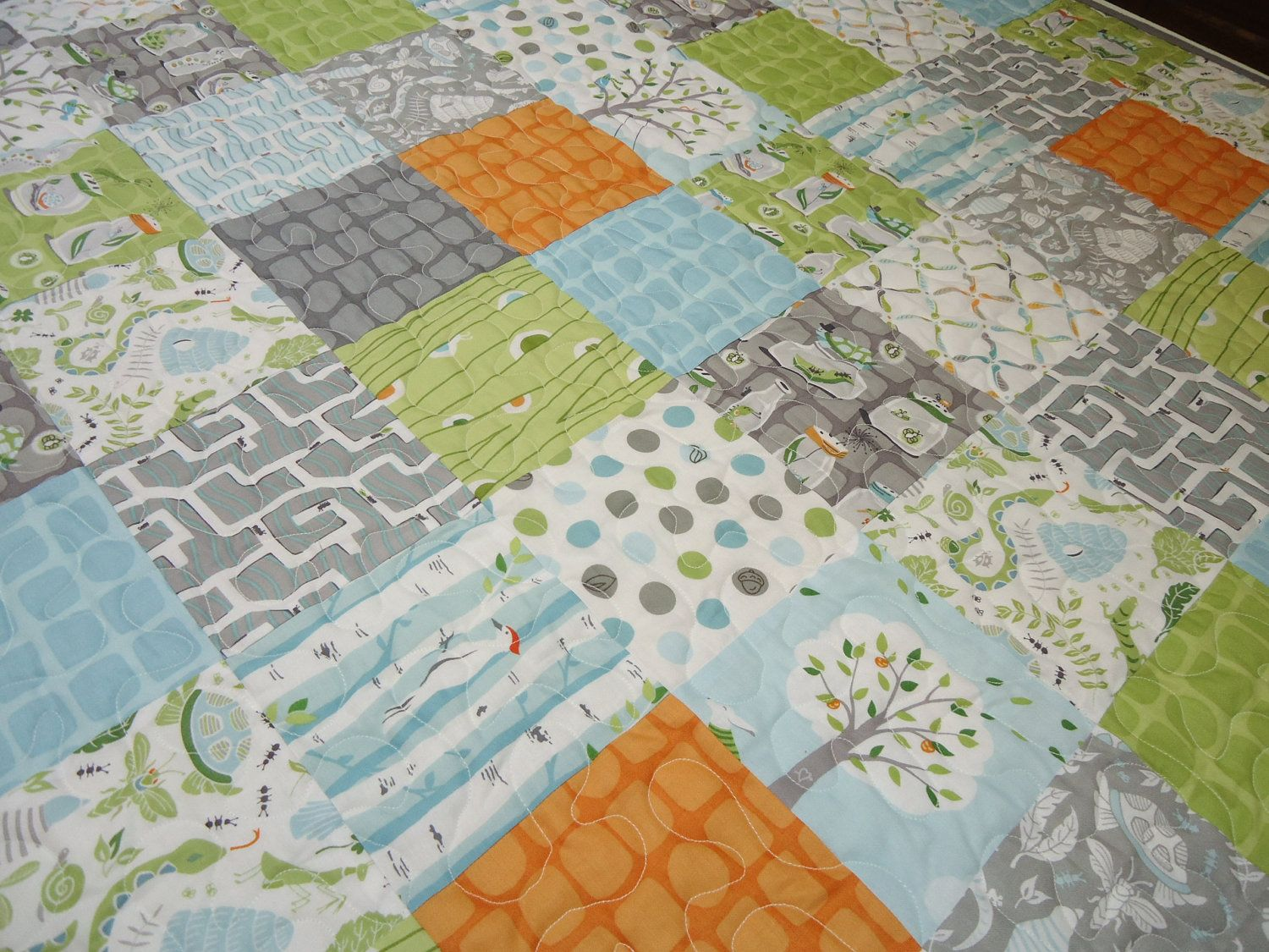 Backyard Baby Boy Patchwork Quilt Made To Order