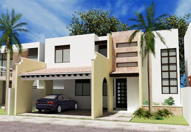 Fachada de casa moderna estilo mexicano caramizi for Acabados fachadas minimalistas