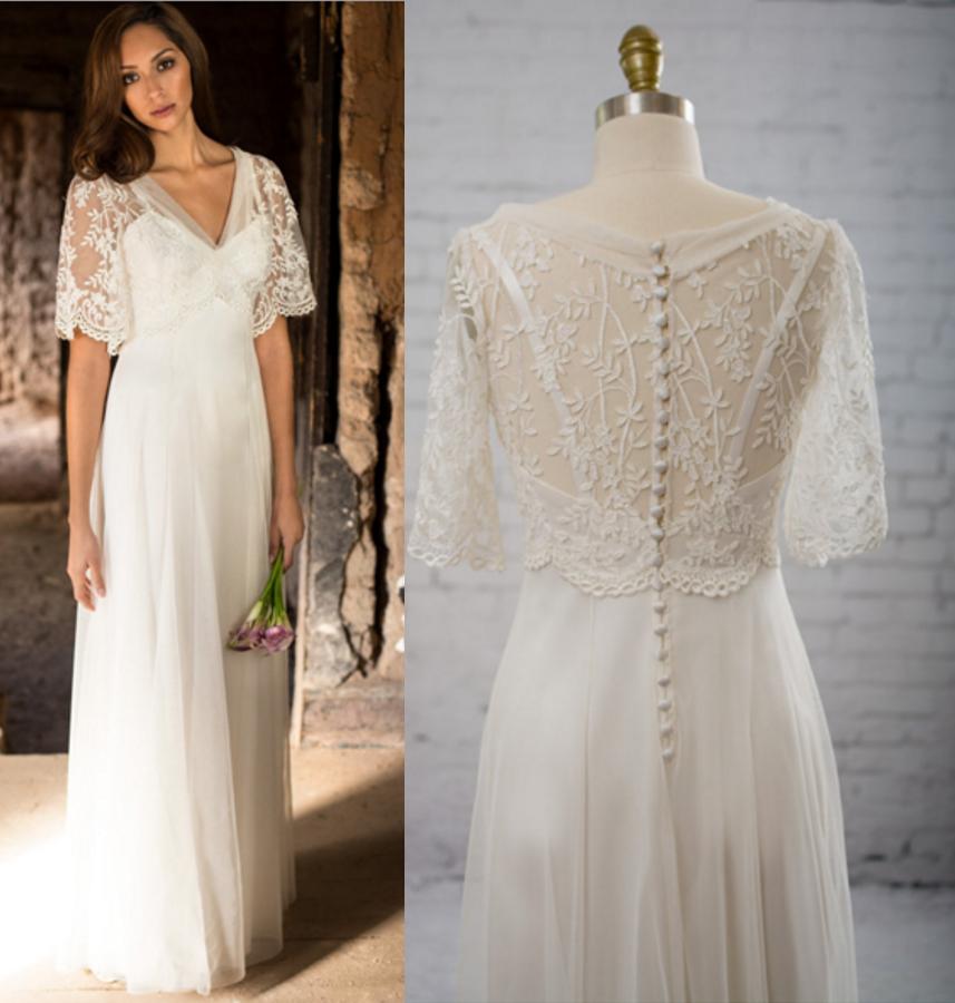 Boho Wedding Dress, Fairy Wedding Dress, Backyard Wedding