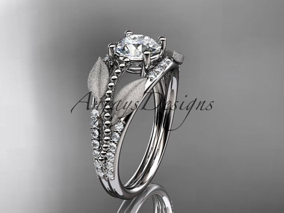 bague diamant feuille