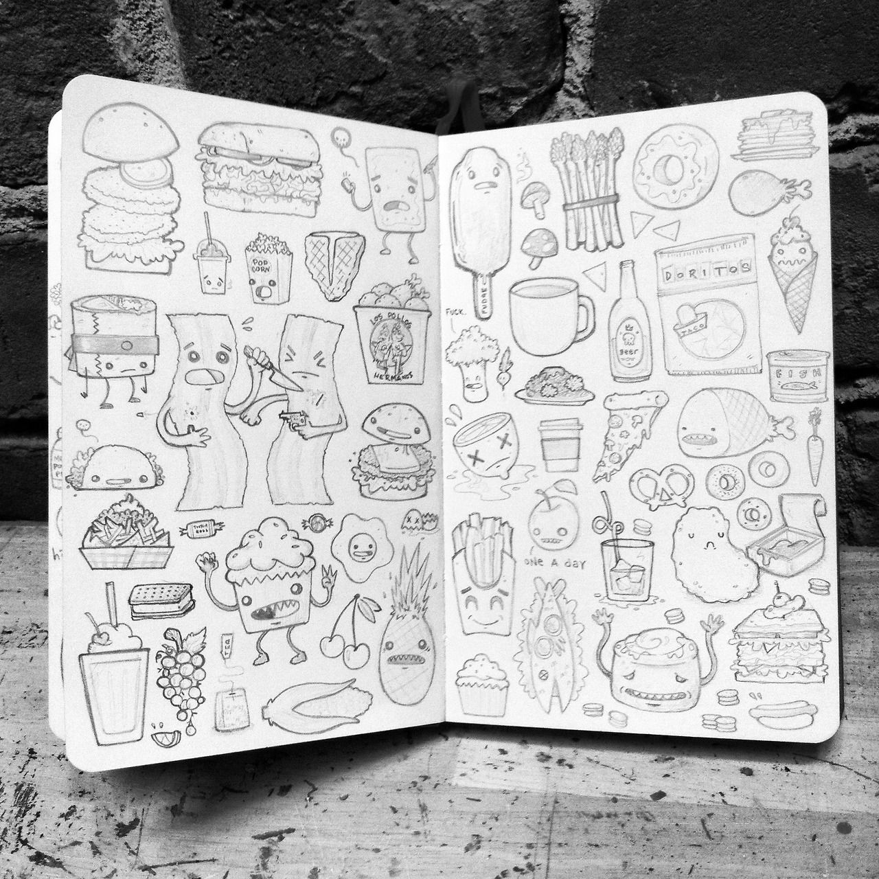 Redditor 'KillTaupe' shares his/her food sketches Food