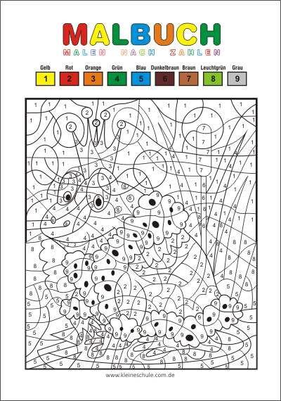 malvorlagen für kinder  malen nach zahlen  kostenlos