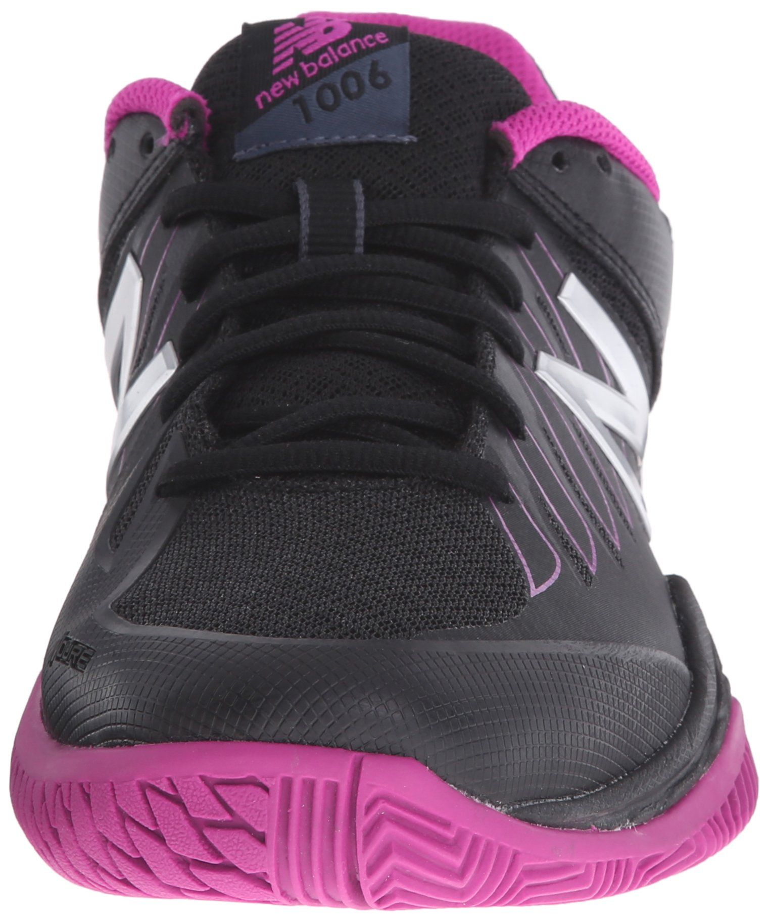 New Balance Womens WC1006v1 Tennis Shoe Black/Pink 9 D US