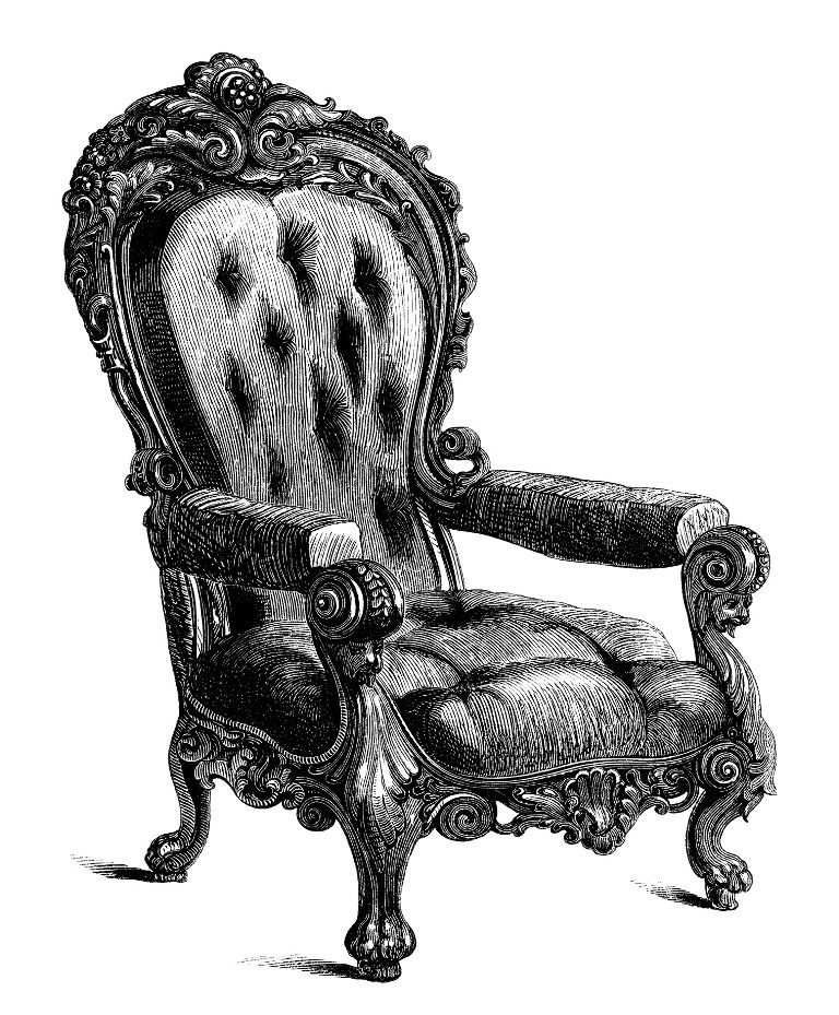 Chair Clip Art Black And White Clipart Antique Chair Engraving Old Clipart Barattoli Decorati Immagini Decorazioni