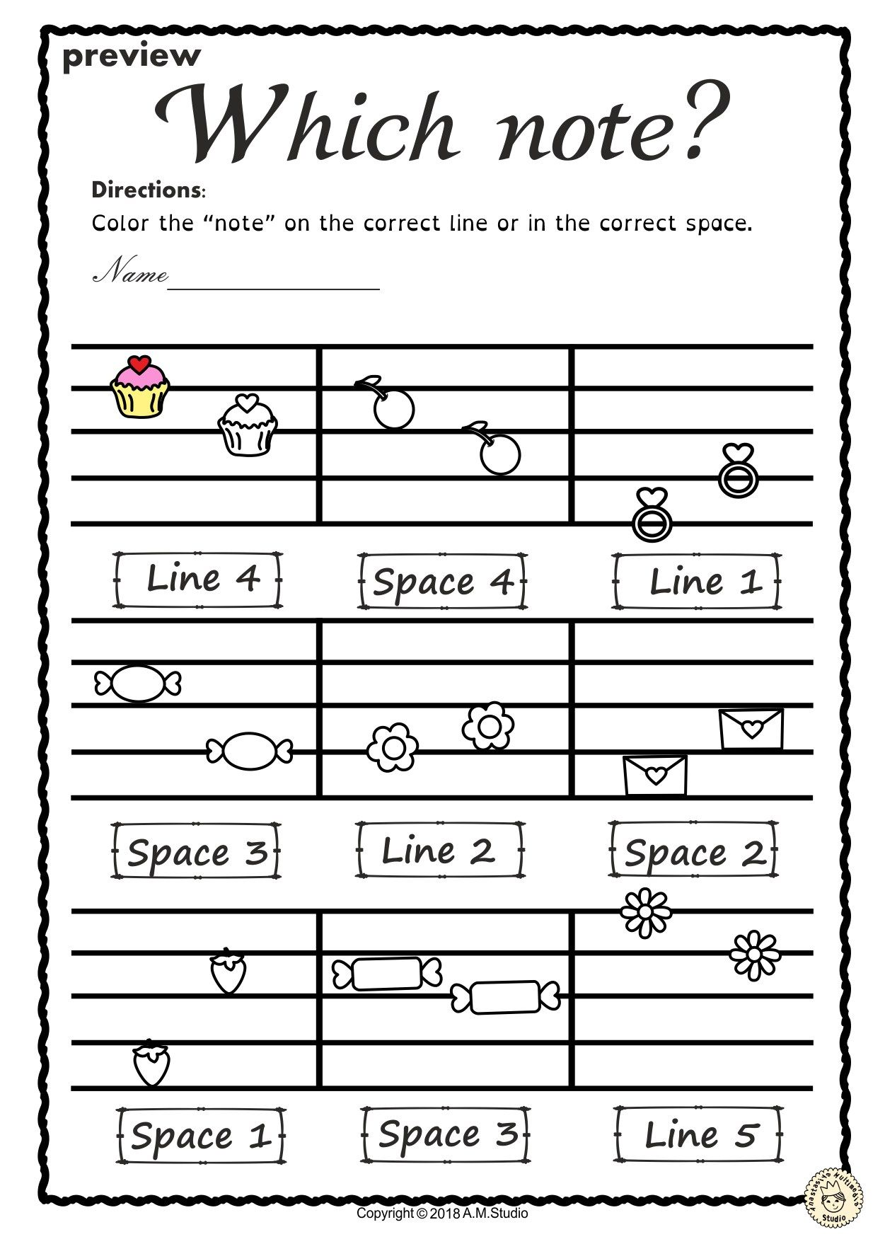 Music Worksheets For Kids Pics