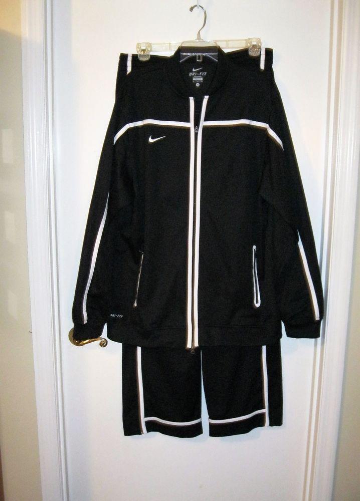 43b9b1c7e85b Men s Nike Dri-Fit Track Suit Jacket Pants Black White Size XL Extra Large  Nice!  Nike  PantsJacket