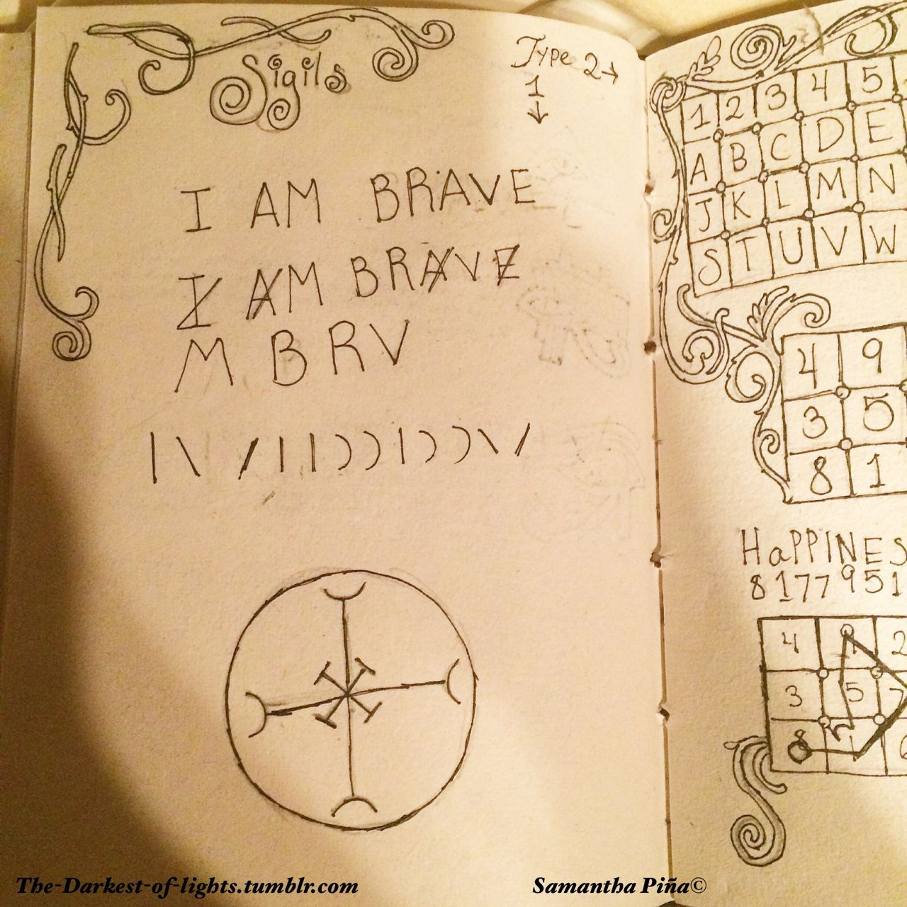 How To Make Sigils A Tutorial In My Book Of Shadows The Darkest