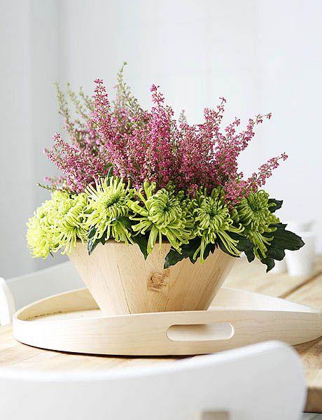 Heather Table Centerpiece Ideas ต วอย างงานจ ดดอกไม Flower