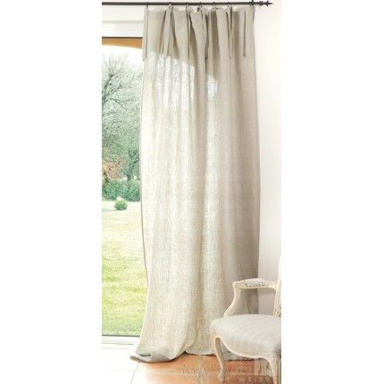 rideau lin naturel curtain drapes ideas pinterest. Black Bedroom Furniture Sets. Home Design Ideas