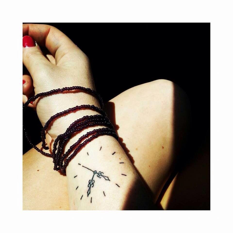 meet me at the clock. Tattoo designs wrist, Clock tattoo