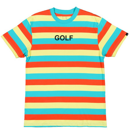 da3cc4516098 GOLF STRIPE TEE LIGHT BLUE GOLF WANG