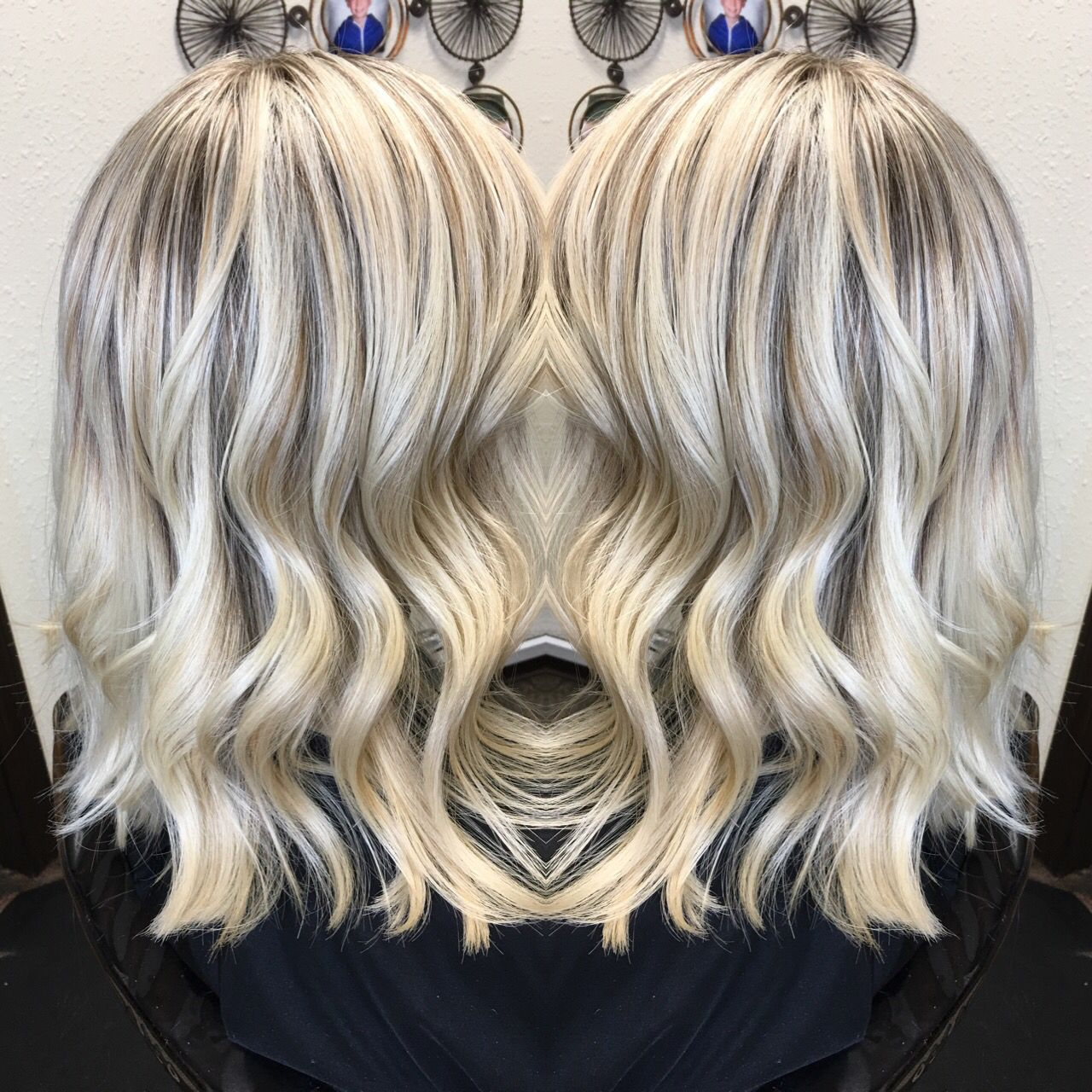 Icy White Hair Platinum Highlight And Lowlight Olaplex Long