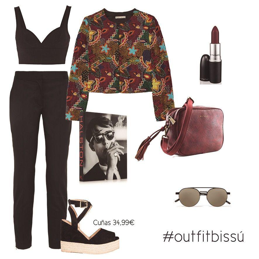 ¡Llegó el momento de subirse a las cuñas! Las negras con suela de esparto se convertirán en tus mejores aliadas  #outfitinspiration #outfit #shopping #moda #fashion #lookoftheday #trendy #cuñas #summer