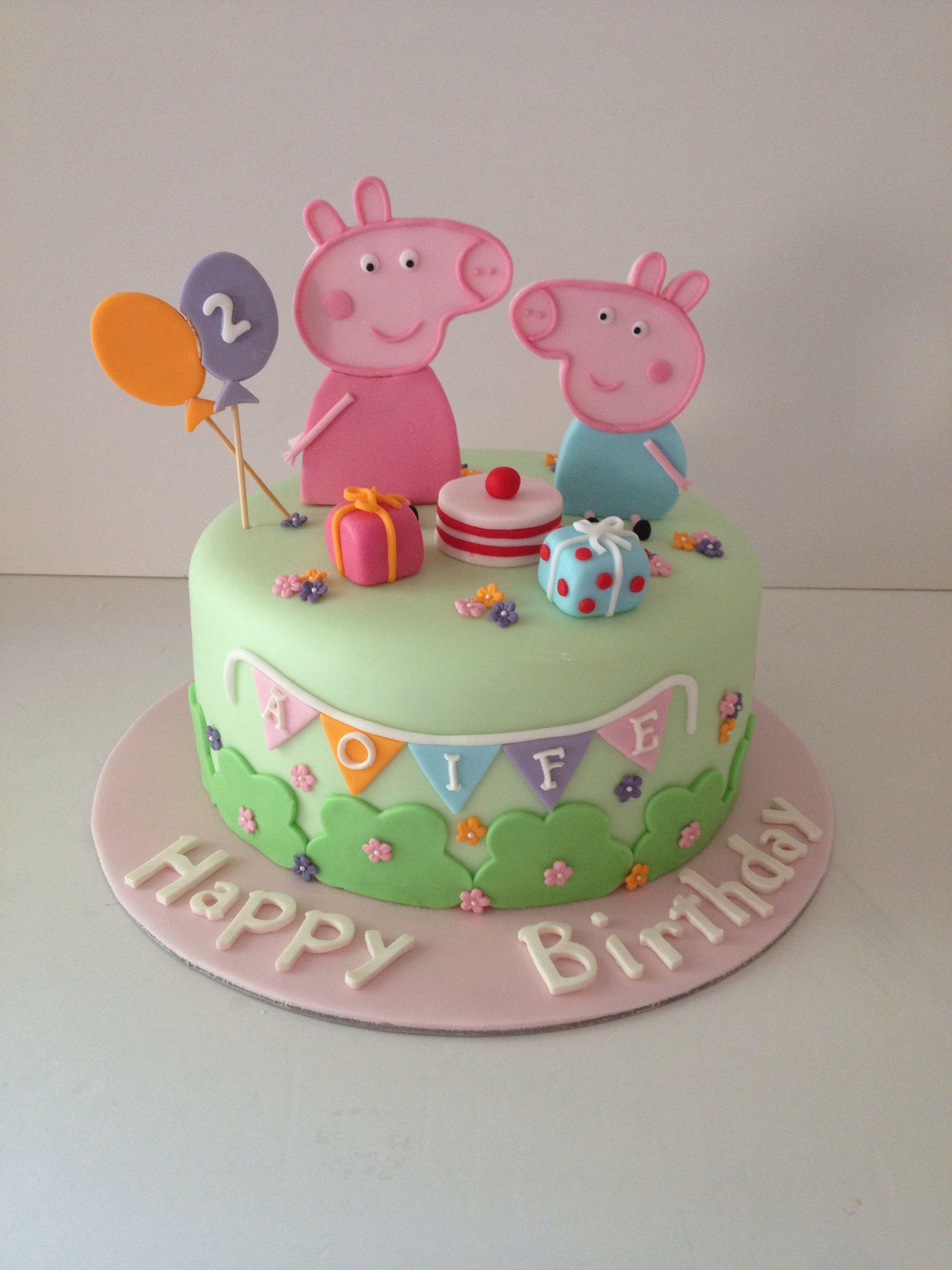 Pepper pig | Peppa pig cake | Pinterest | Torten, Geburtstagskuchen ...