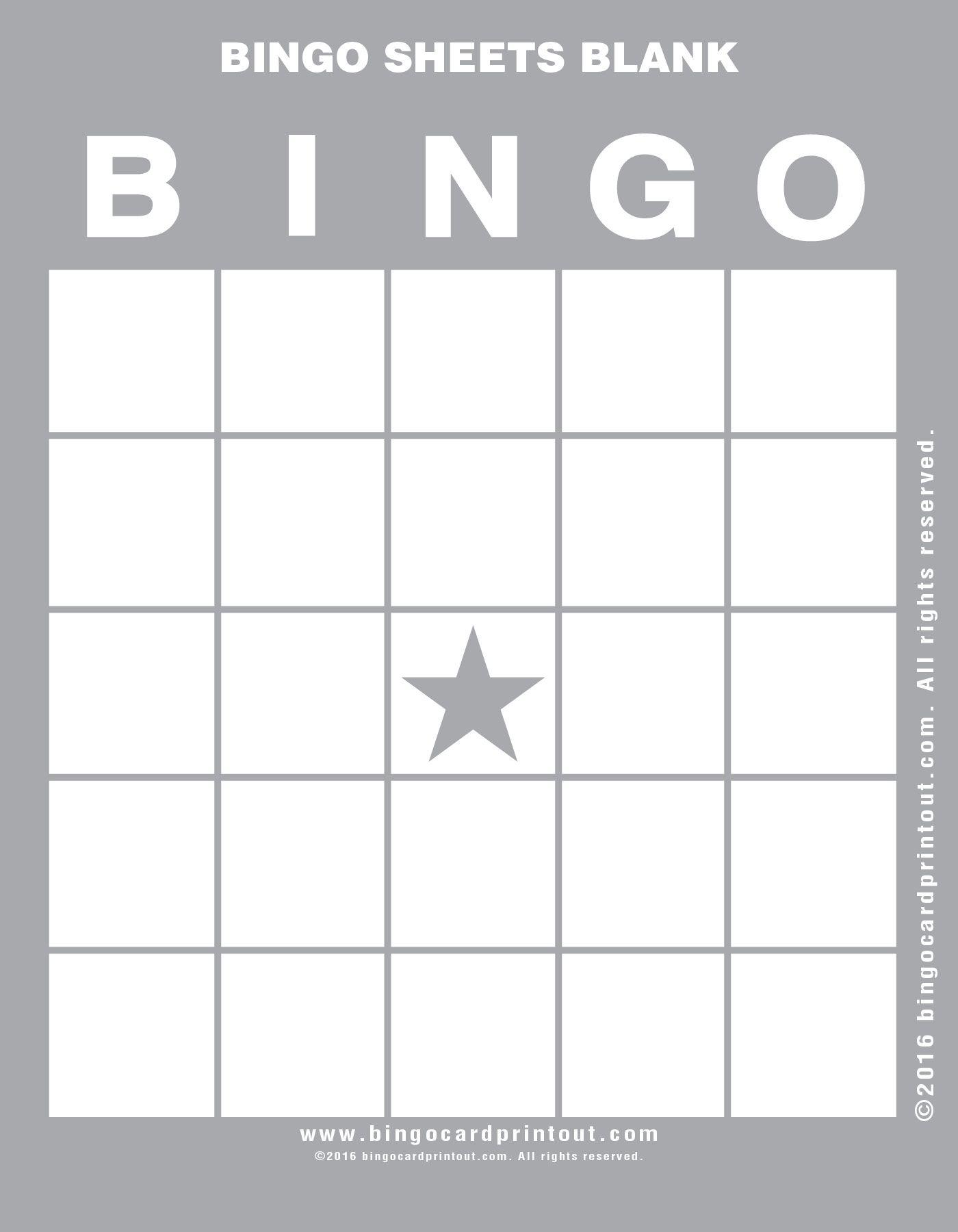 Bingo Sheets Blank Bingocardprintout Com Bingo Sheets Bingo Card Template Free Bingo Cards