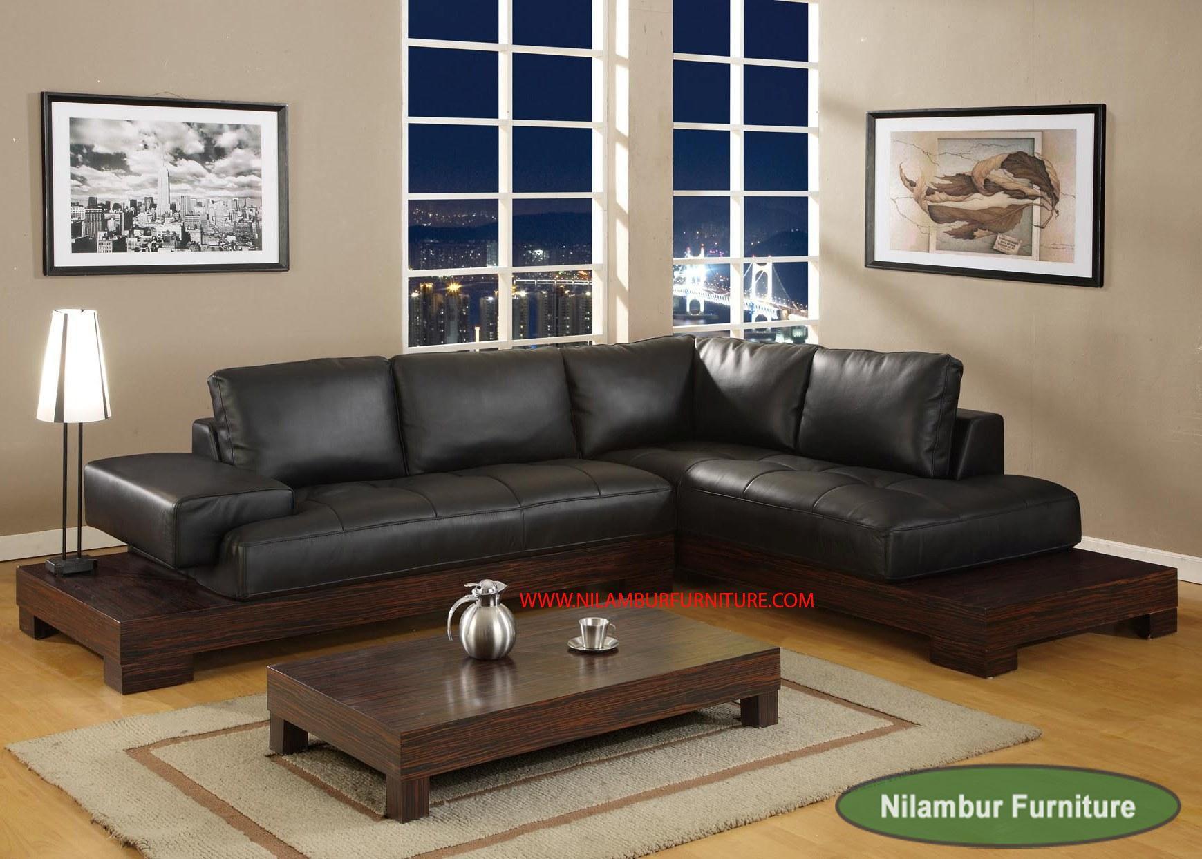 Furnitureinteriordecorationawesomebrownwoodensofaswithblack