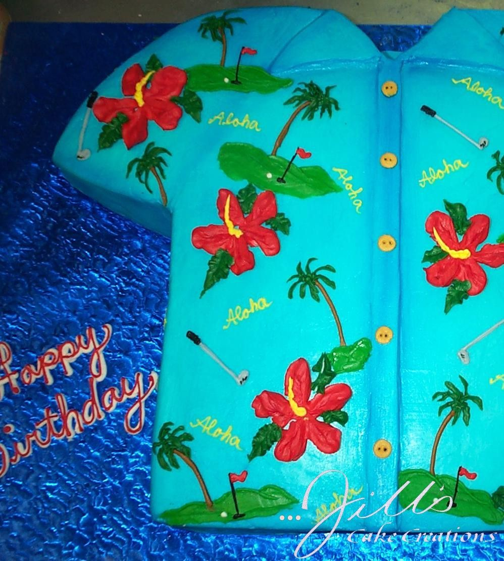 Hawaiian Shirt 50th Birthday Cake Hawaiian Shirt 50th Birthday Luau Party Ideas 50th