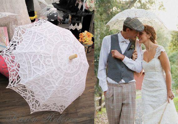 Oferta especial del Battenburg paraguas Vintage sombrilla para novia ...