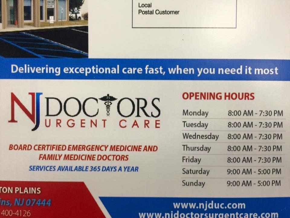 Walk in Urgent Care Illness Specialist Pompton Plains