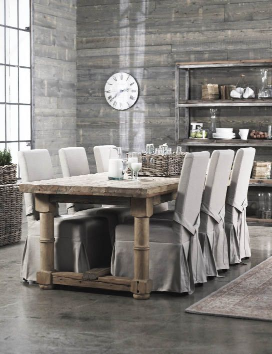 Dining Chairs Covers Ideas Rustic Table Fabric