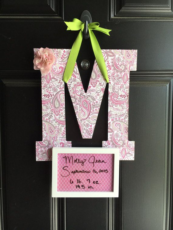 Hospital door sign girl hospital door hanger girl birth – Hospital Birth Announcements