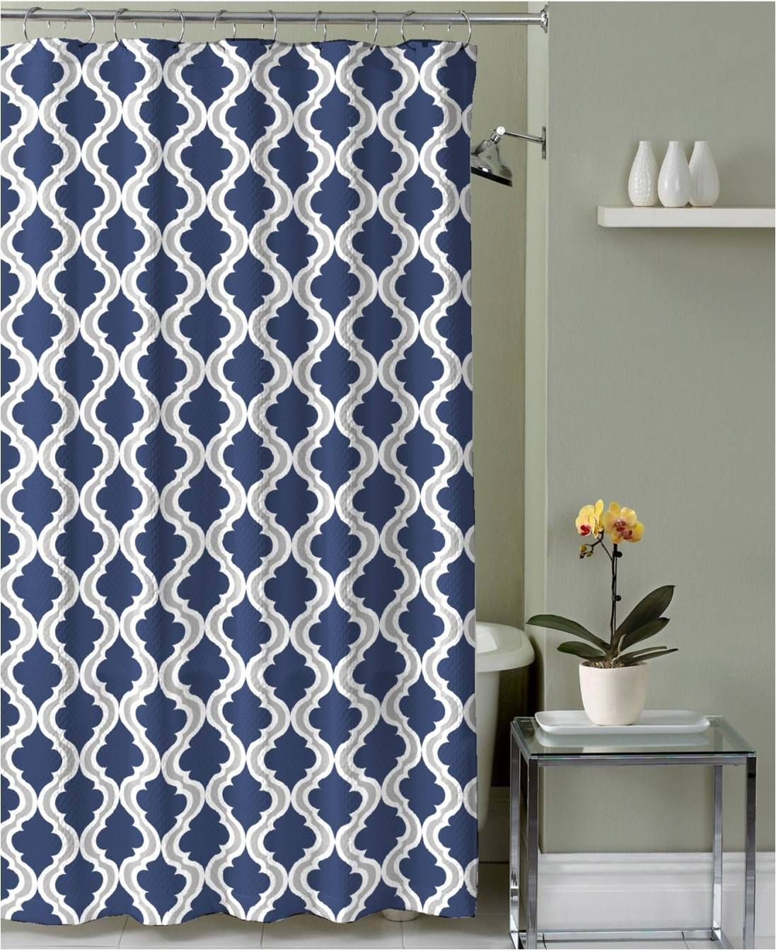 Royal Bath Anguila Electric Eel Canvas Fabric Shower Curtain 70 X 72 In 2021 Blue Shower Curtains Gray Shower Curtains Blue White Shower Curtain [ 1343 x 1097 Pixel ]