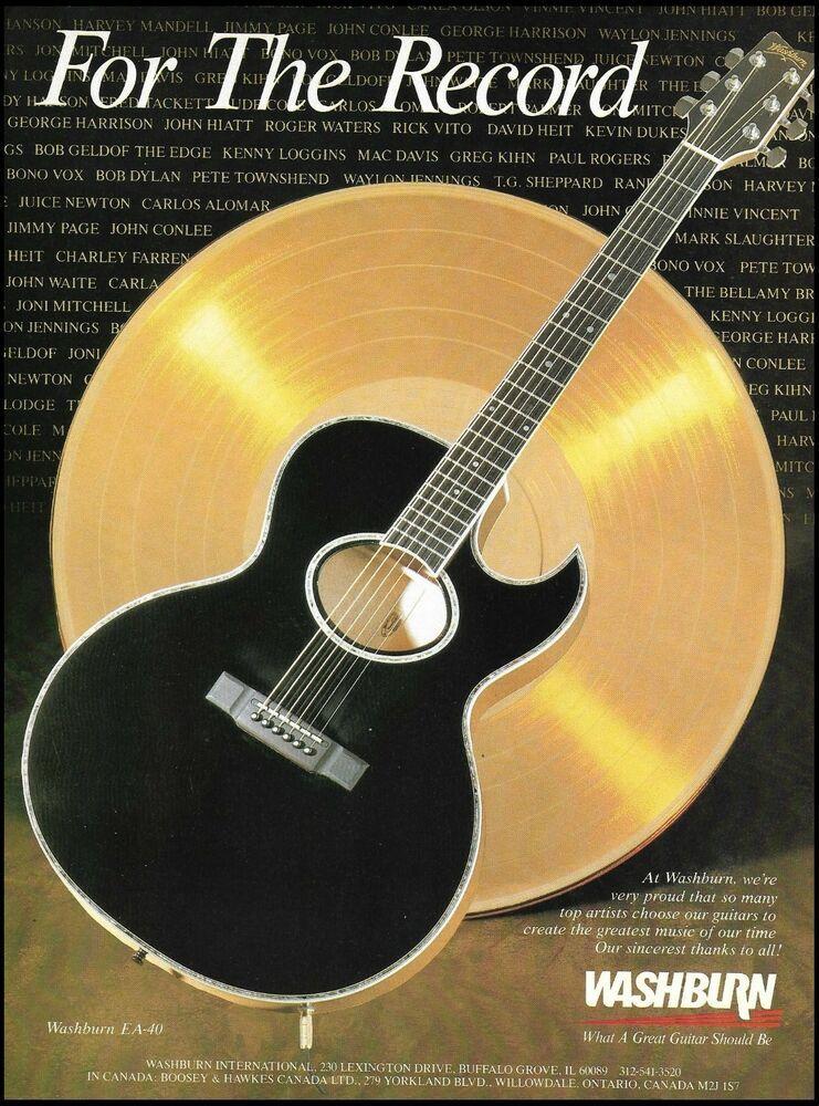 Pin On Washburn Guitar Advertisement Ad Print