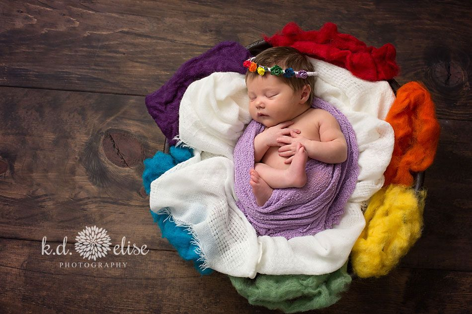 Rainbow baby newborn session alexis