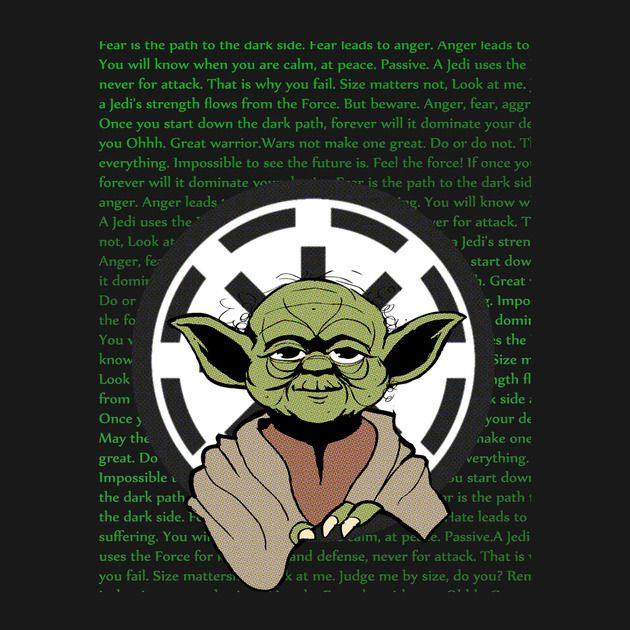 Check out this awesome 'Wisdom+of+the+Jedi' design on TeePublic! http://bit.ly/1hAhacV