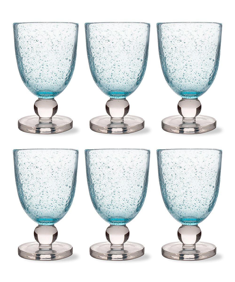 Aqua Bubble Goblet - Set of Six