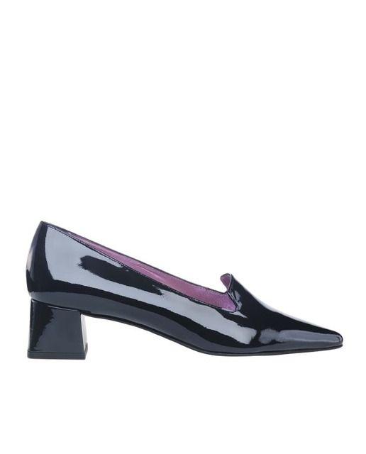 Zapatos de salón de mujer Jaime Mascaró en charol azul k3Ykm